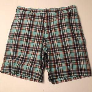 Peter Millar Men's Shorts Sz 34 Plaid Golf Cotton